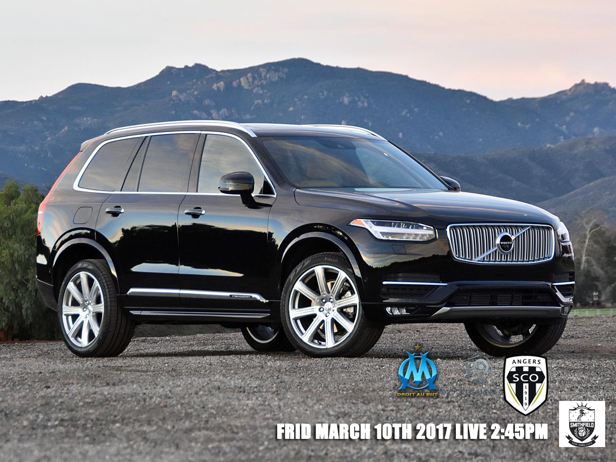 Om Vs Angers Nydn 2017 Volvo Xc90 T6 Inscription Black Front